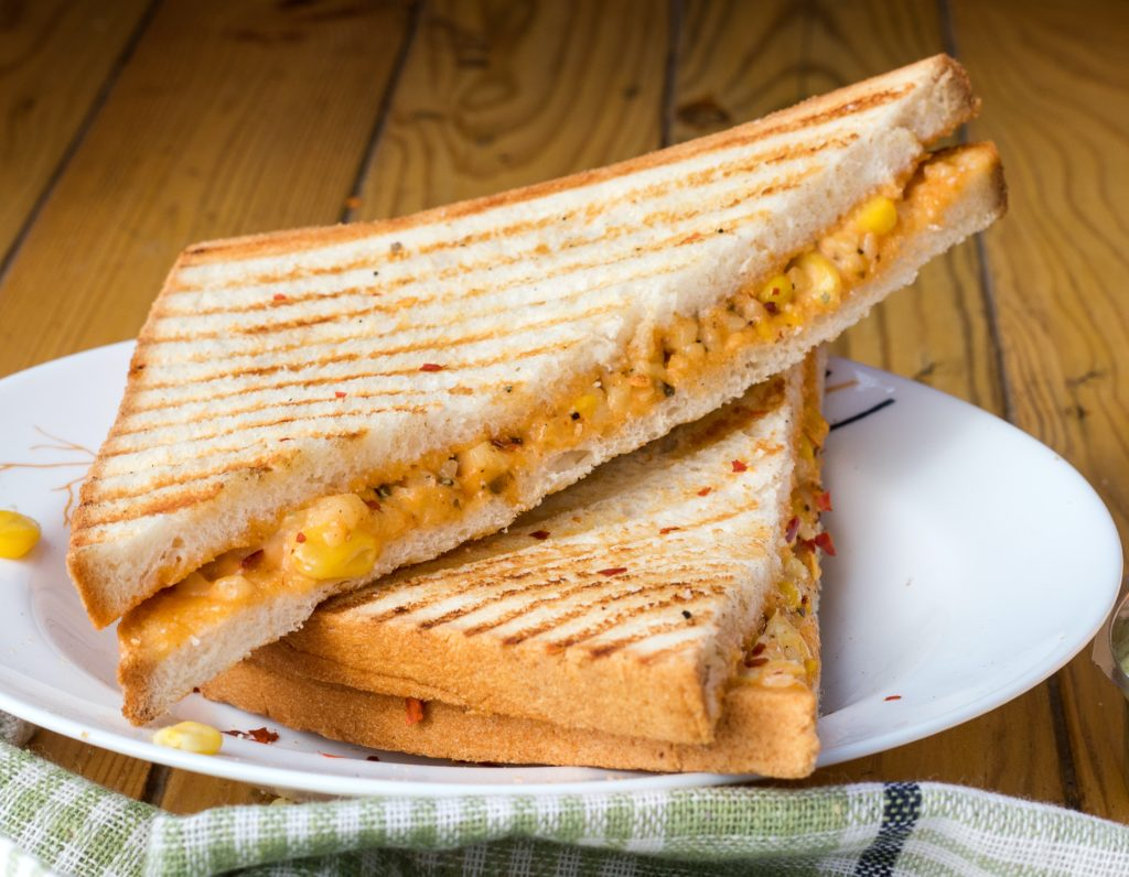 three-cheese sandwich