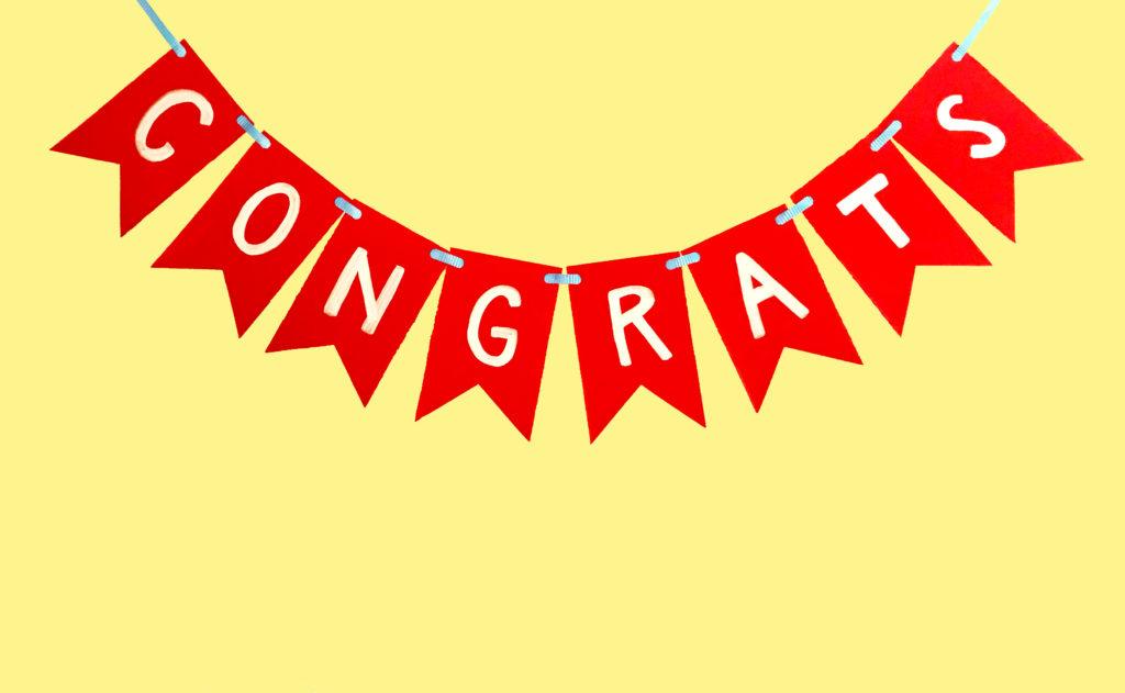 'Congrats' Banner