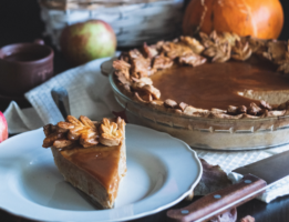 Caramel Topped Pumpkin Pie