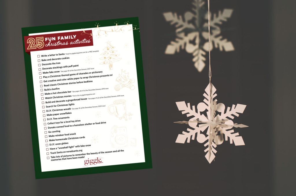 Family Christmas Activities Checklist